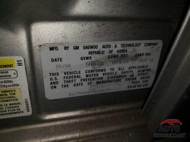 CHEVROLET AVEO 2009 - KL1TD66E19B308150