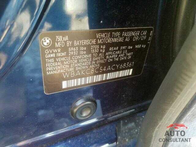 BMW 750 LI XDR 2010 - JF1ZNAA14H8703027