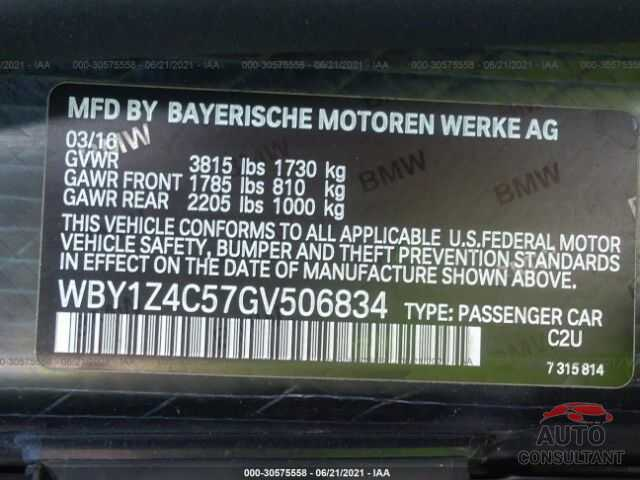 BMW I3 2016 - WBY1Z4C57GV506834