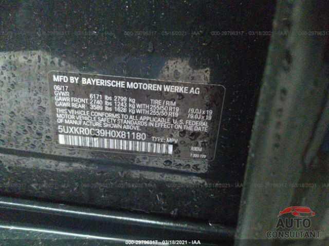 BMW X5 2017 - 5UXKR0C39H0X81180
