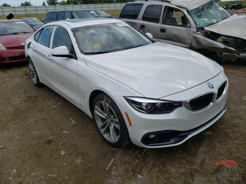 BMW 4 SERIES 2019 - WBA4J3C56KBL07815