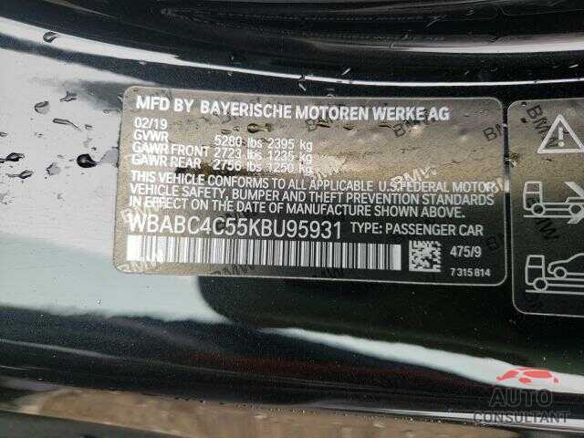 BMW M8 2019 - WBABC4C55KBU95931