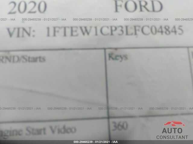 FORD F-150 2020 - 1FTEW1CP3LFC04845