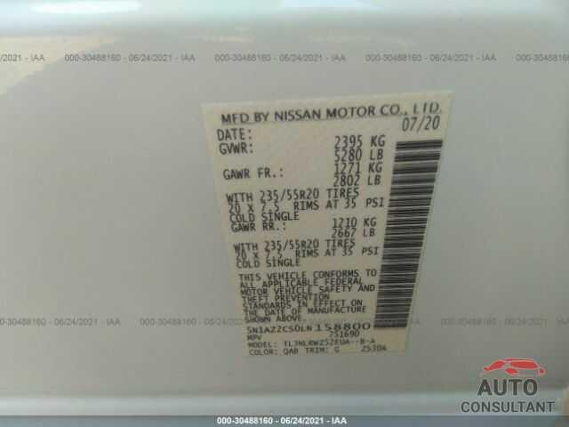 NISSAN MURANO 2020 - 5N1AZ2CS0LN158800