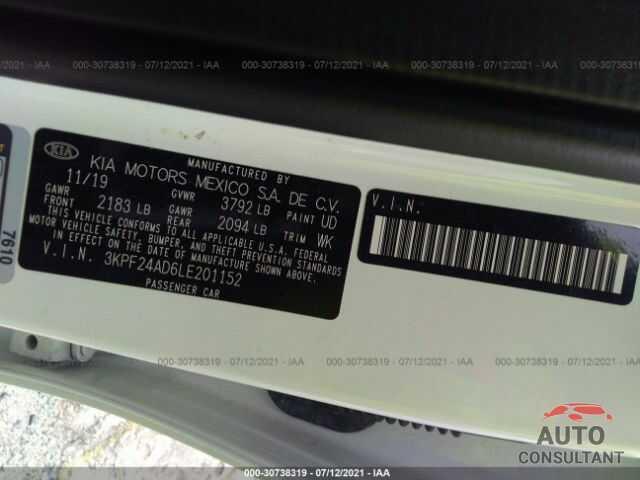 KIA FORTE 2020 - 3KPF24AD6LE201152