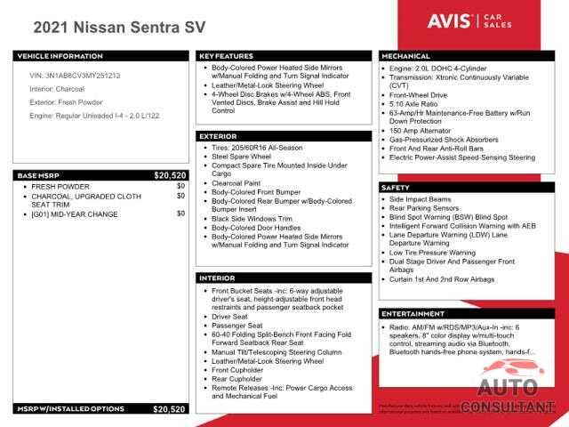 NISSAN SENTRA 2021 - 3N1AB8CV3MY251212