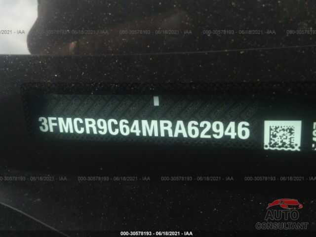 FORD BRONCO SPORT 2021 - 3FMCR9C64MRA62946